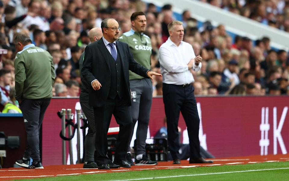 Rafael Benitez gives his team instructions. - Michael Steele/Getty Images