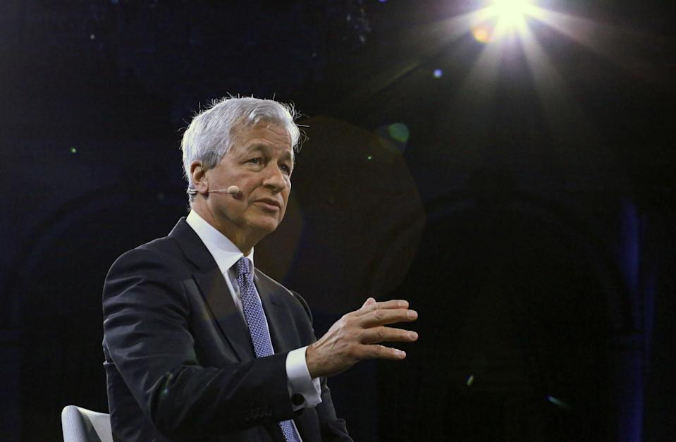 Jamie Dimon, Chairman & CEO of JP Morgan Chase & Co, speaks during the Bloomberg Global Business Forum in New York on September 25, 2019. (KENA BETANCUR/AFP via Getty Images)