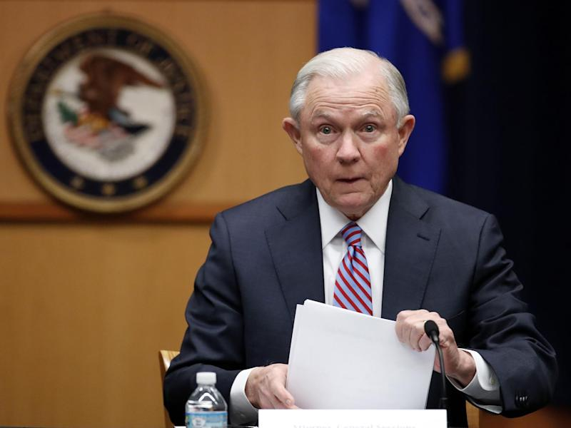 The US Attorney General also said he is confident Mr Trump's administration will prevail with its appeal of the immigration order ruling: AP