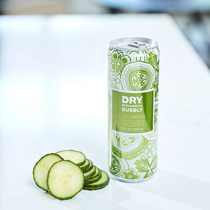 <p>For a light, crisp, refreshing drink, try out the <span>DRY Sparkling Non-Alcoholic Botanical Bubbly, Cucumber</span> ($32 for 12). It also comes in ginger, rainier cherry, and vanilla bean. </p>
