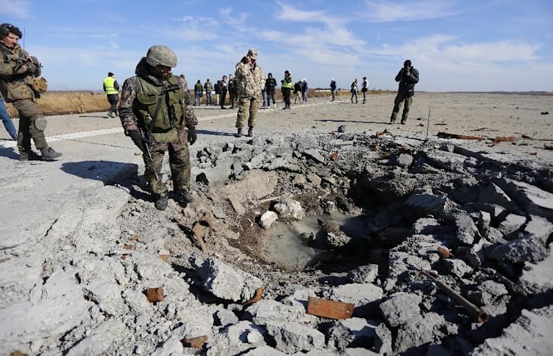 More than 44,000 mines have been cleared from from the separatist Donetsk and Lugansk regions of eastern Ukraine (AFP Photo/Aleksey Filippov)