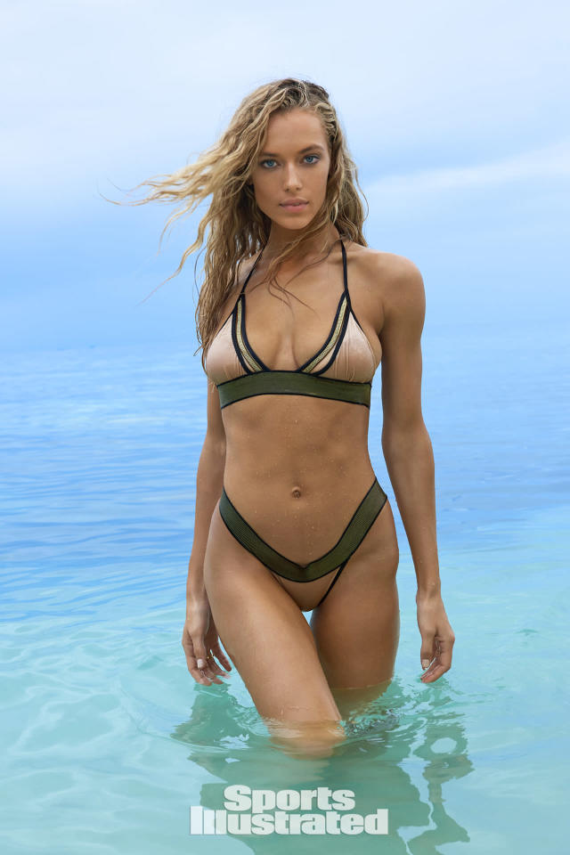 <p>Hannah Ferguson was photographed by Yu Tsai in Fiji. Swimsuit by Dolcessa.</p>