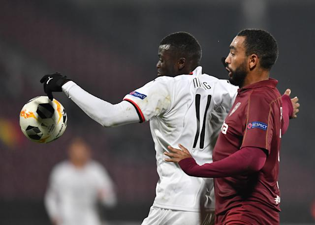 Mbaye Niang et Billel Omrani (Photo by Daniel MIHAILESCU / AFP)