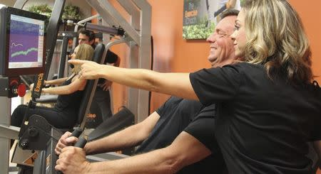Handout photo of clients working out at The Exercise Coach in Houston