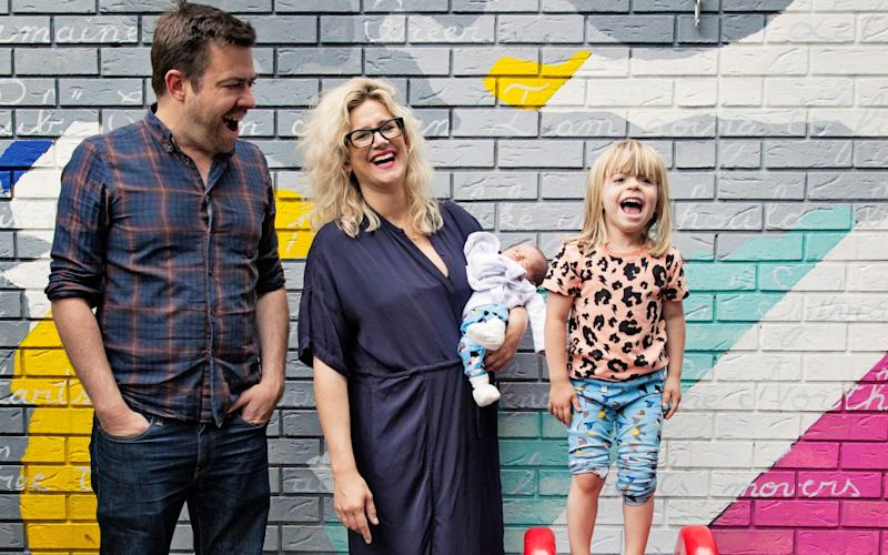 Anna Whitehouse with her husband, Matt Farquarson, and children - Emily Gray Photography 2017