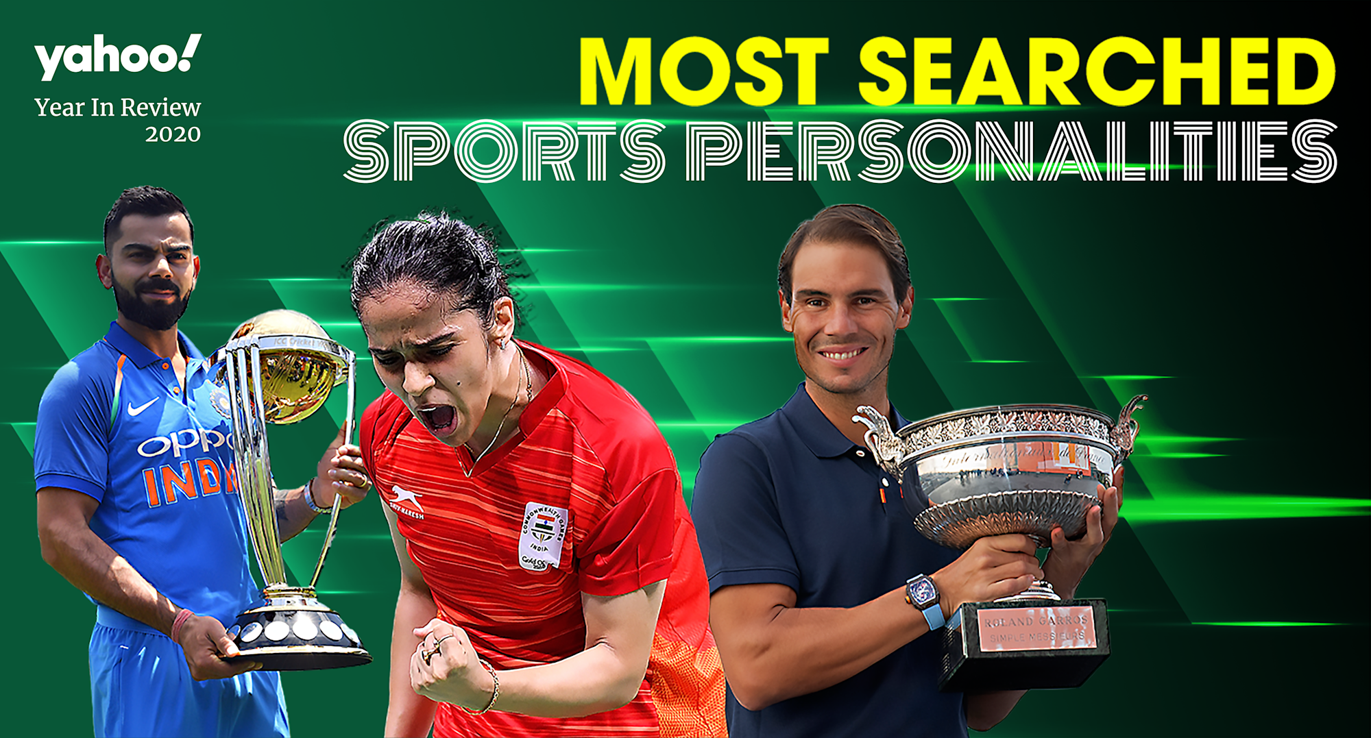 Yahoo India's Most Searched Sports Personalities of 2020