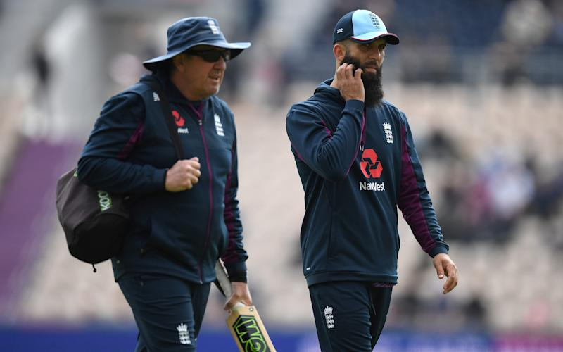 Moeen Ali (right) is expected to feature againstAfghanistan on Tuesday - 2019 Getty Images