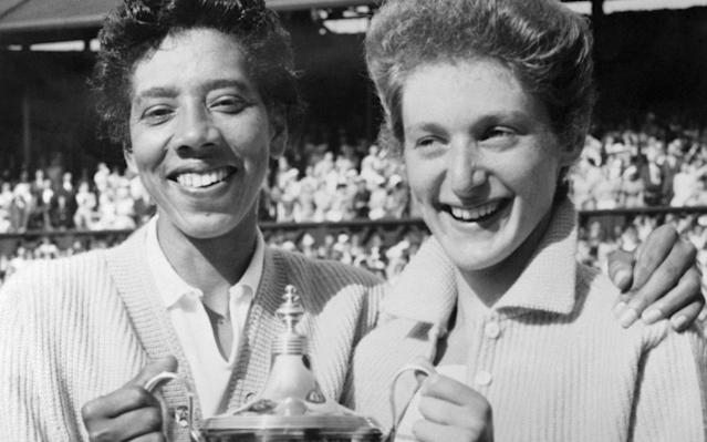 Althea Gibson and Angela Buxton won the Wimbledon doubles title in 1956 - Bettmann