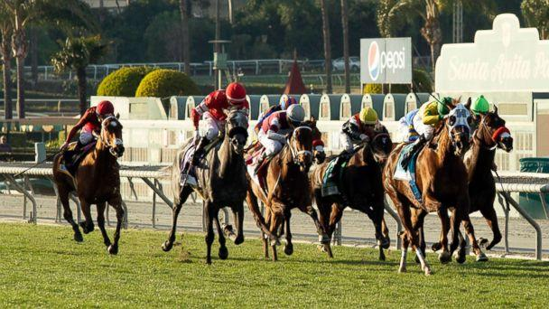 photo: Vasilika, second from right, with Flavien Prat aboard, draws away in mid-stretch and goes on to win the Grade II, $200,000 Buena Vista Stakes horse race, Feb. 23, 2019, at Santa Anita Park in Arcadia, Calif. (Benoit Photo via AP, FILE)