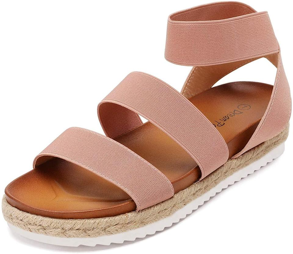 <p>These <span>Dream Pairs Ankle Strap Platform Wedge Sandals</span> ($33 - $39) are so comfortable, you'll want to slip into them every day.</p>
