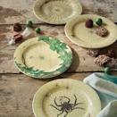 """<p><strong>John Derian for Threshold</strong></p><p>target.com</p><p><strong>$15.00</strong></p><p><a href=""""https://www.target.com/p/4pc-itsy-bitsy-bites-spider-web-print-appetizer-plates-john-derian-for-threshold-8482/-/A-79502731"""" rel=""""nofollow noopener"""" target=""""_blank"""" data-ylk=""""slk:Shop Now"""" class=""""link rapid-noclick-resp"""">Shop Now</a></p><p>What better way to eat your Halloween candies than on plates with some creepy-crawlies. </p>"""