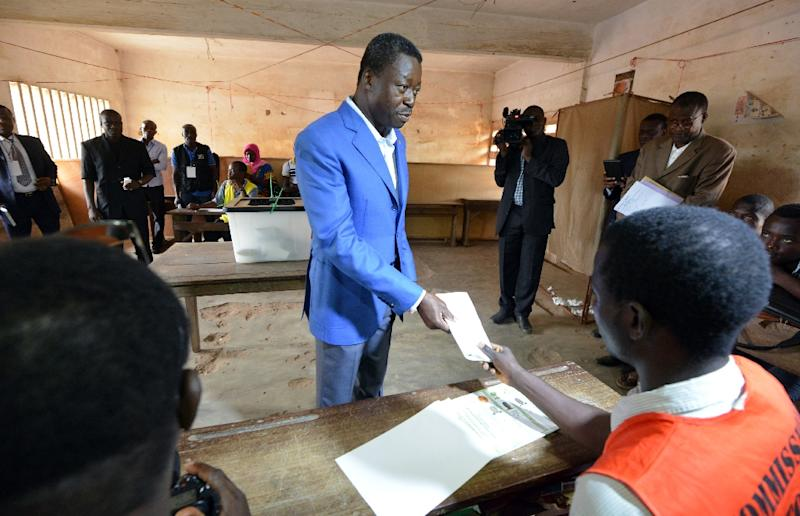 The Independent National Electoral Commission said Togo's incumbent President Faure Gnassingbe (pictured) had won 62 percent of the vote, far ahead of his nearest rival, with 12 percent of ballots counted (AFP Photo/Issouf Sanogo)