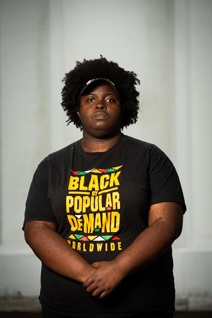 Timothy Young, an activist with Black Lives Matter Mississippi, in Jackson, Miss., July 2, 2020. (Timothy Ivy/The New York Times)