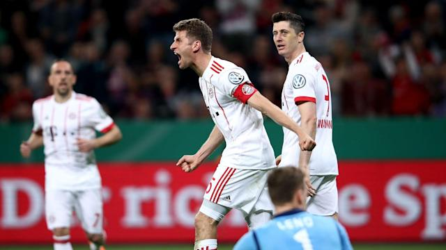 Heiko Herrlich's Bayer Leverkusen were no match for Thomas Muller and Bayern Munich, who cruised into the DFB-Pokal final in style.