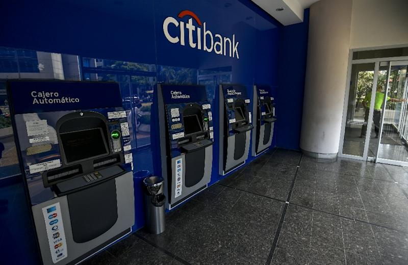Cash machines at a branch of US Citibank in Caracas