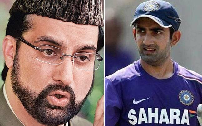 Gambhir's offer to help Hurriyat leader Mirwaiz Umar Farooq prepare to got to Pakistan came in response to the separatist leader's happy tweet following India's loss in the Champions Trophy final on Sunday.