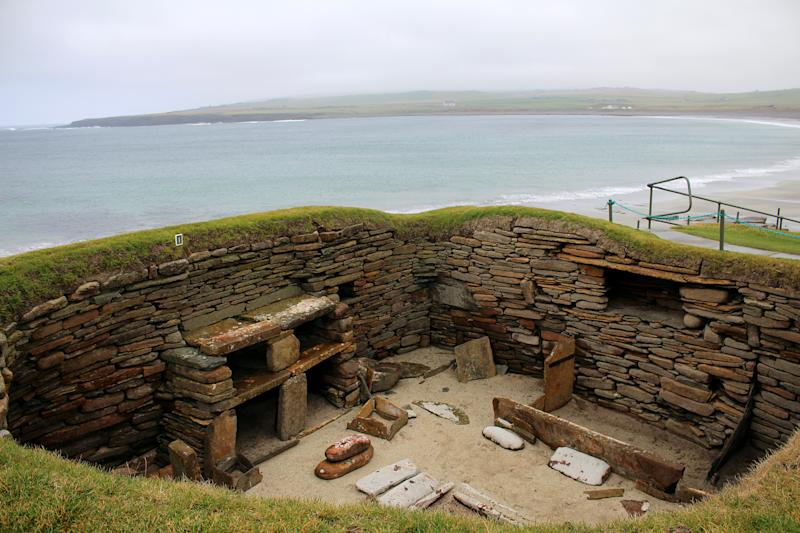 Neolithic Buildings are seen at Skara Brae in the Orkney Islands, Scotland on Sep. 25, 2019 | George Sargent—REUTERS