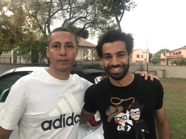 Jaime Pabon, left, with Mohamed Salah. (Photo courtesy of Jaime Pabon).