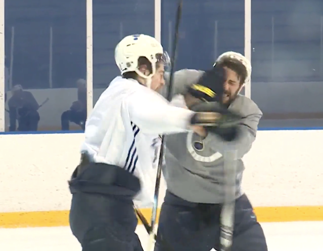 You know things are bad when you are fighting your own teammate in the middle of practice.
