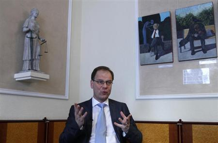 Hungary's Deputy Prime Minister Tibor Navracsics gestures during an interview with Reuters in Budapest March 13, 2012. REUTERS/Bernadett Szabo/Files