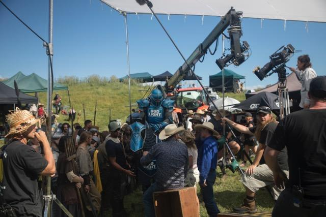 "The latest in the ""Dilly Dilly"" ad campaign took six days to shoot in rural New Zealand. (Photo courtesy of Bud Light)"