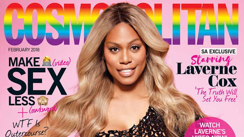 Laverne Cox Makes History As Cosmopolitan's First Transgender Cover Girl