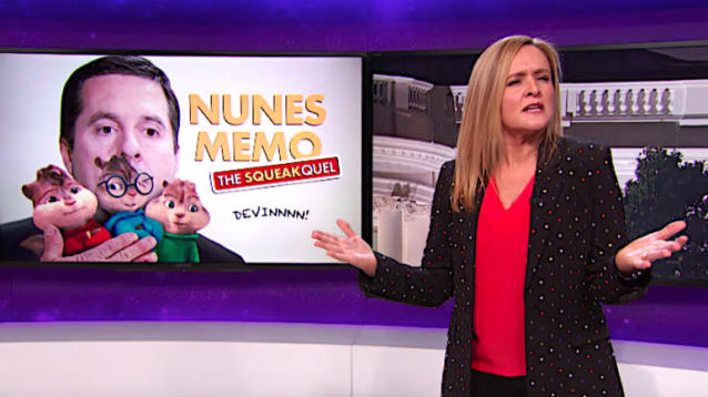 Samantha Bee fears that House Intelligence Committee chairman Devin Nunes (R-Calif.)