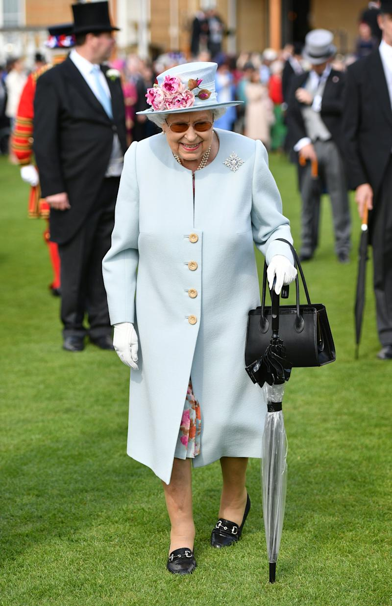 Queen Elizabeth II attending the Royal Garden Party at Buckingham Palace on May 21, 2019 in London, England. Photo: Getty Images