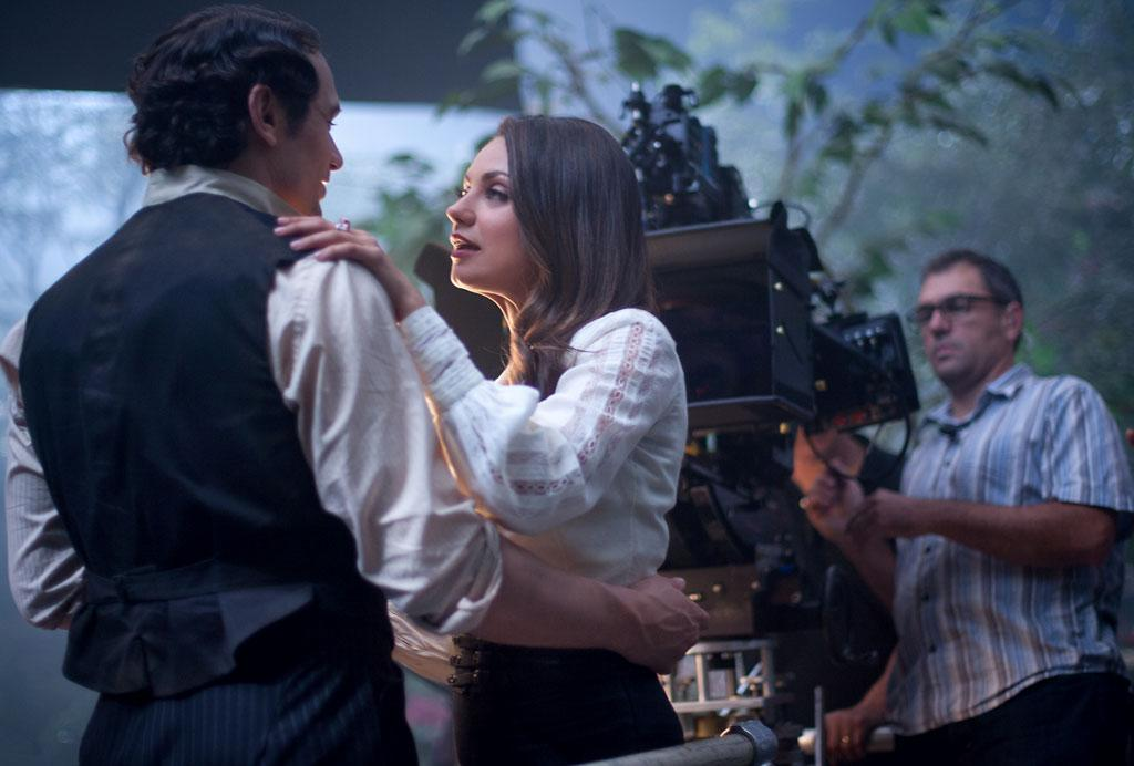 "James Franco and Mila Kunis on the set of Walt Disney Pictures' ""Oz The Great and Powerful"" - 2013"