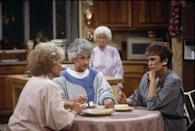 """<p>From Dorothy's (Bea Arthur) sarcasm and Sophia's (Estelle Getty) quick-witted one-liners to Blanche's (Rue McClanahan) sassiness and Rose's (Betty White) bless-her-heart moments, <em><a href=""""https://www.oprahdaily.com/entertainment/tv-movies/g23281531/golden-girls-gifts/"""" rel=""""nofollow noopener"""" target=""""_blank"""" data-ylk=""""slk:The Golden Girls"""" class=""""link rapid-noclick-resp"""">The Golden Girls</a></em> is much more than four women talking about life and love over cheesecake. Sure, they're pals and confidantes. But they're also living proof that laughter truly is the best medicine—<em>and </em>an inspiration for aging gracefully. </p><p><a class=""""link rapid-noclick-resp"""" href=""""https://www.amazon.com/Pilot-The-Golden-Girls/dp/B00J1ZNTYY/?tag=syn-yahoo-20&ascsubtag=%5Bartid%7C10063.g.37608731%5Bsrc%7Cyahoo-us"""" rel=""""nofollow noopener"""" target=""""_blank"""" data-ylk=""""slk:Watch Now"""">Watch Now</a></p>"""