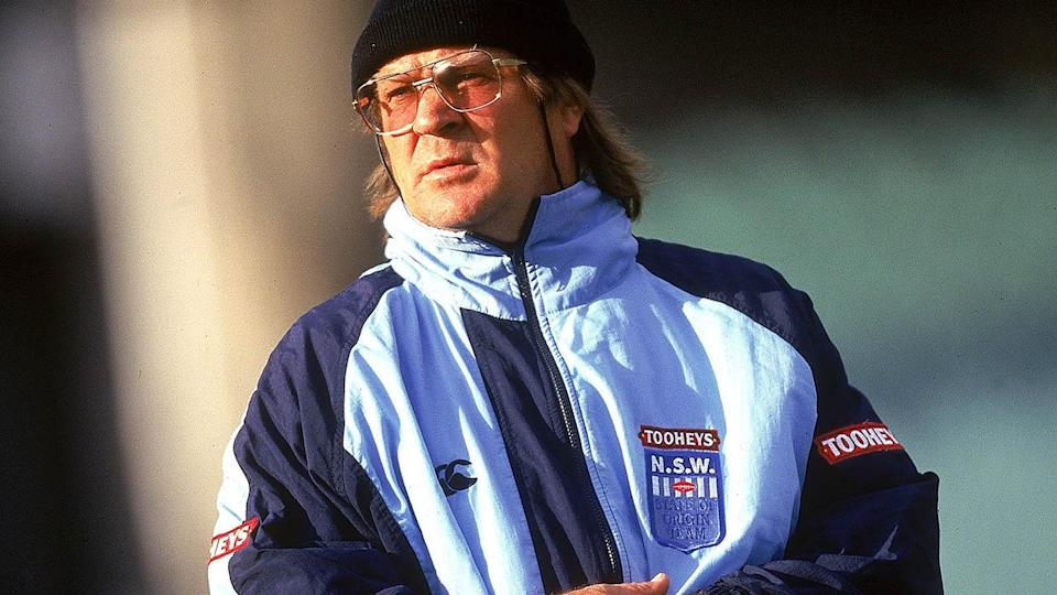 Tommy Raudonikis as coach of NSW in 1997. (Photo by Sean Garnsworthy/Getty Images)