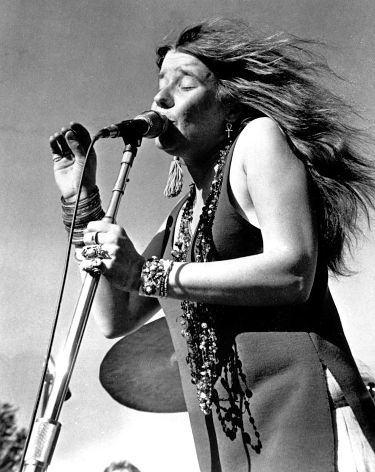 Rock singer Janis Joplin performs in this undated photo, location unknown.  (AP Photo)