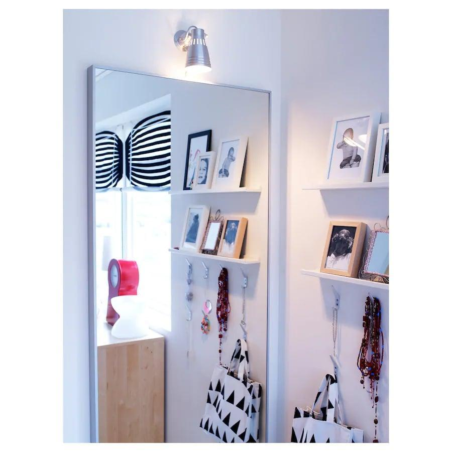 <p>The <span>Ikea HOVET Mirror</span> ($129) goes well with any of your existing decor!</p>