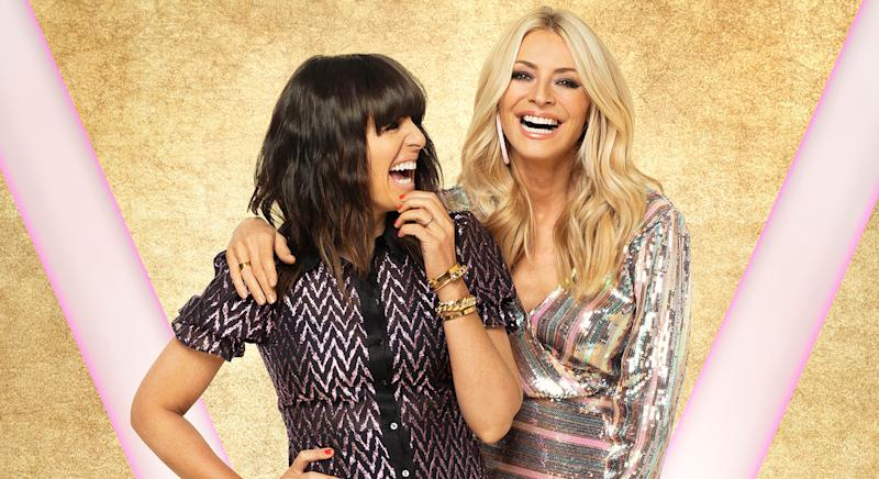 Claudia Winkleman and Tess Daly photographed on Saturday night's episode of Strictly Come Dancing [Photos: BBC/David Oldham]