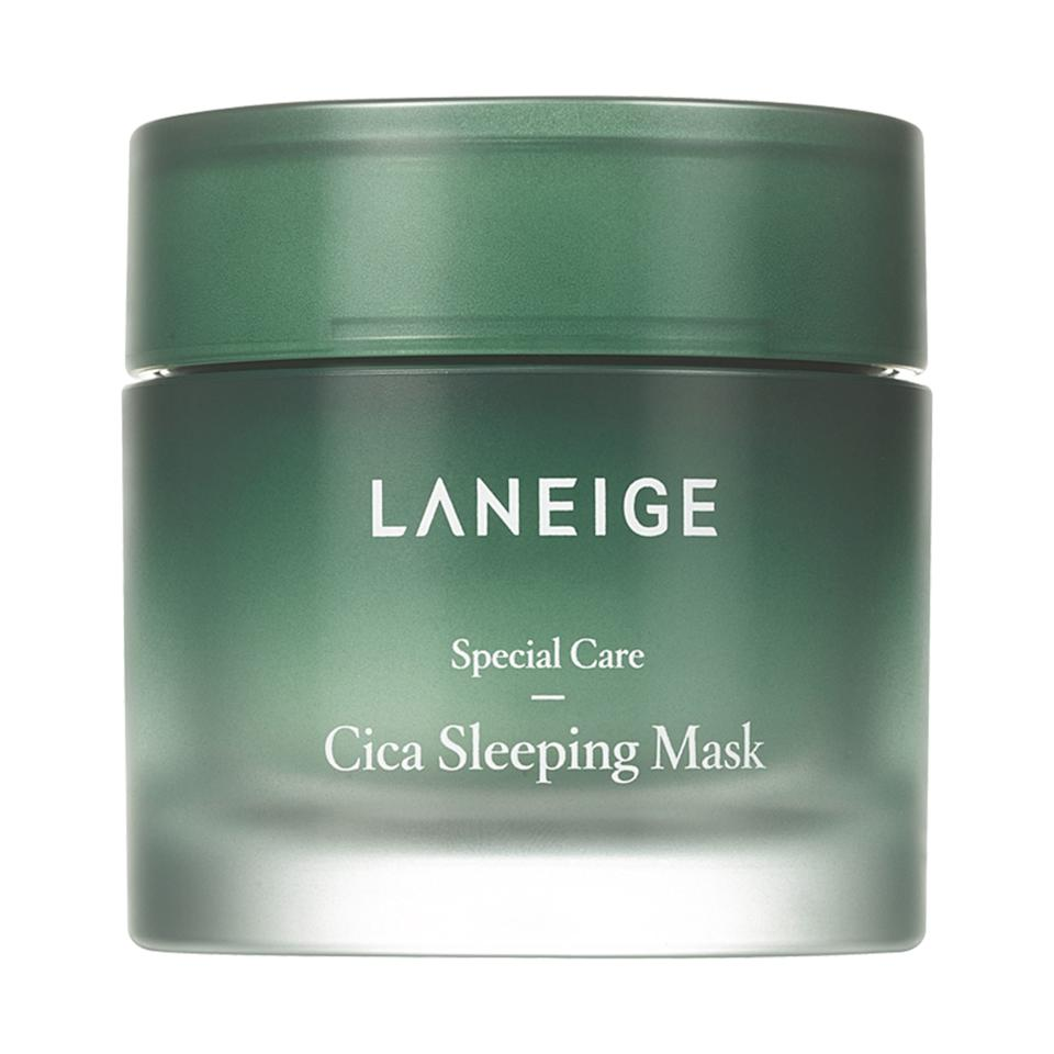 "<p>Exclusive to new K-beauty e-tailer Akoco, Laneige's Cica Sleeping Mask combines <a href=""https://www.allure.com/story/what-is-cica-ingredient-korean-beauty-skin-care?mbid=synd_yahoo_rss"">skin-strengthening cica</a> with soothing squalane, shea butter, and tea tree leaf oil. It feels like a cool cloth to the skin on a hot day, and after just one night's use, skin looks smooth, plump and super-moisturized.</p> <p>$32 (<a href=""https://akoco.com/collections/laneige/products/laneige-cica-sleeping-mask"" rel=""nofollow"">Shop Now</a>)</p>"
