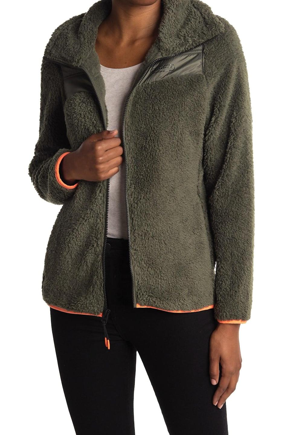 <p>This <span>Lucky Brand Faux Shearling Fleece Zip Jacket</span> ($30, originally $95) is the perfect winter layer.</p>