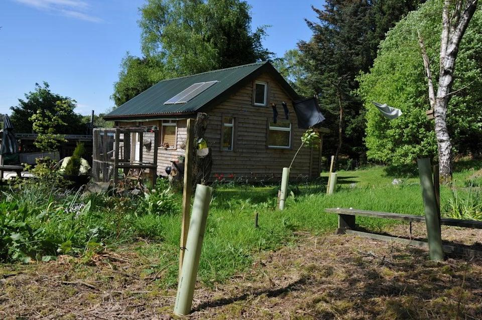 One of the simple, stripped-back huts for rent in the Scottish countryside (Margaret Banford)