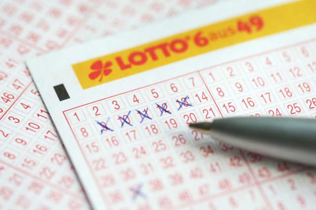 Row of five in the lotto