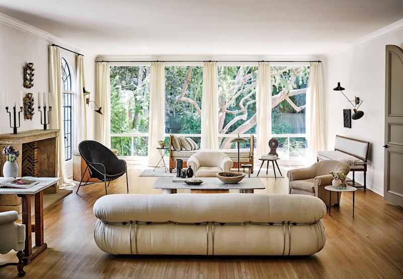 A Soriana sofa in Nate Berkus and Jeremiah Brent's Los Angeles house.