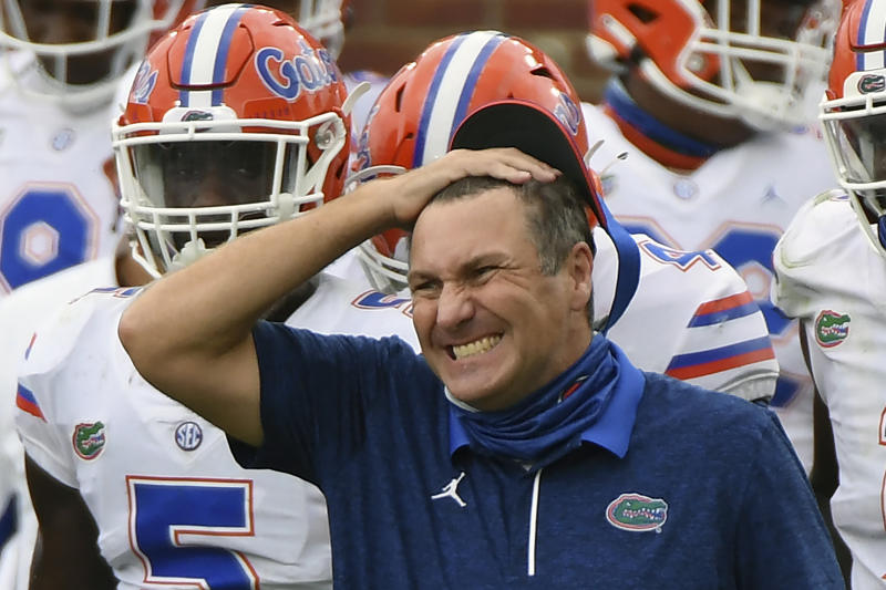 Florida coach Dan Mullen revealed in a statement he's tested positive for COVID-19. (AP)