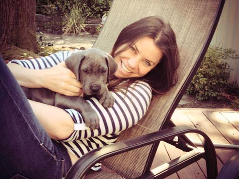 Brittany Maynard and her Great Dane puppy Charlie