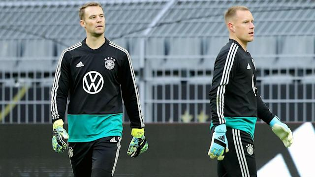 """The two Germany goalkeepers are """"teammates, not competitors"""" when they link up on the international stage, according to the Bayern Munich star"""