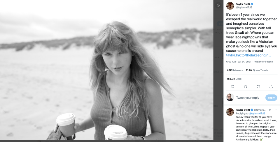 Taylor Swift announcement on Twitter - Credit: Twitter