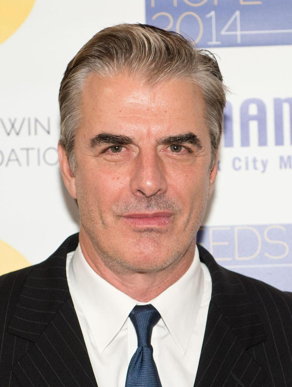 <p>Chris Noth has gradually incorporated his gray roots into his look since, but his bold brows have remained dark.</p>