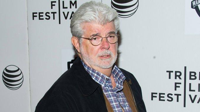 George Lucas at the 2015 Tribeca Film Festival