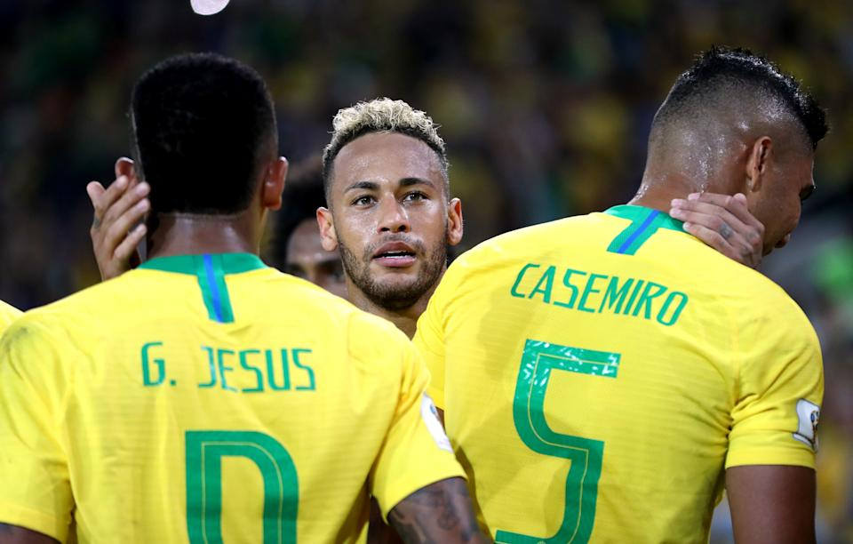 Neymar has a strong team around him, and Brazil looks like the 2018 World Cup favorite. (Getty)
