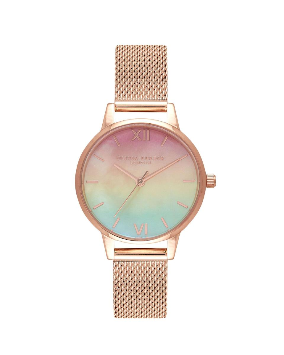 "<p><strong>Olivia Burton</strong></p><p>nordstrom.com</p><p><strong>$160.00</strong></p><p><a href=""https://go.redirectingat.com?id=74968X1596630&url=https%3A%2F%2Fwww.nordstrom.com%2Fs%2Folivia-burton-rainbow-mesh-strap-watch-30mm%2F5857680&sref=https%3A%2F%2Fwww.marieclaire.com%2Ffashion%2Fnews%2Fg3961%2Fbest-watches-for-women%2F"" rel=""nofollow noopener"" target=""_blank"" data-ylk=""slk:Shop Now"" class=""link rapid-noclick-resp"">Shop Now</a></p><p>In a year when tie dye reigns supreme, why stop at your watch?</p>"