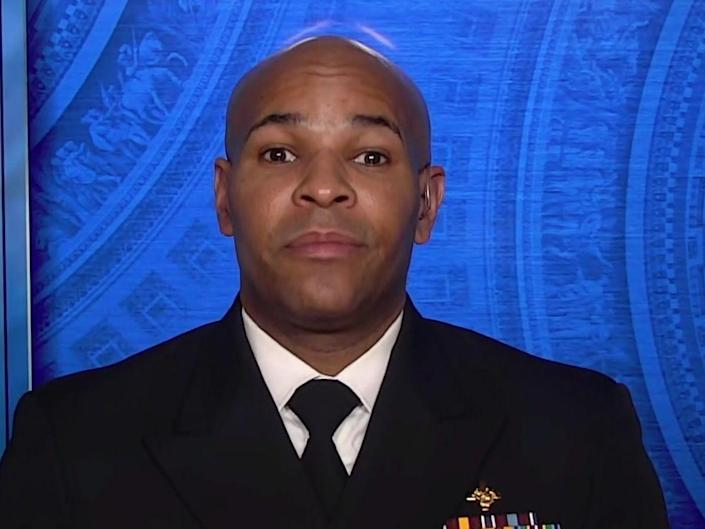 US surgeon general Jerome Adams speaking to Face the Nation on Sunday 20 December ((CBS))