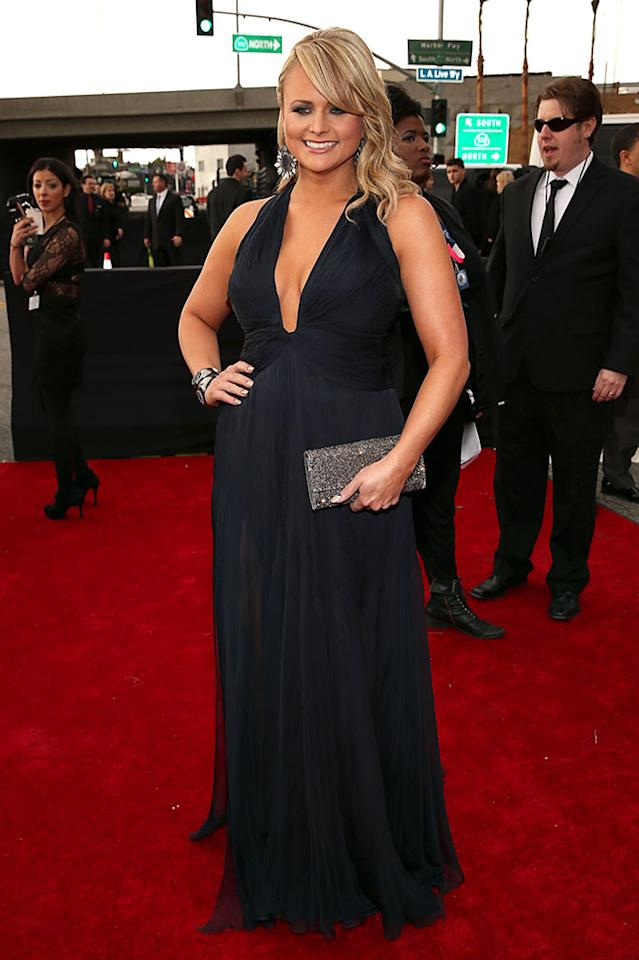 Miranda Lambert arrives at the 55th Annual Grammy Awards at the Staples Center in Los Angeles, CA on February 10, 2013.