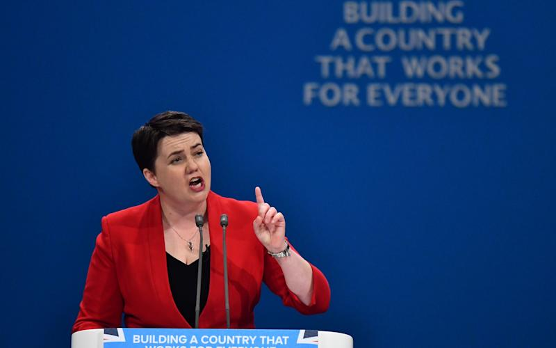 Ruth Davidson received a rapturous welcome at the Tory conference - AFP or licensors